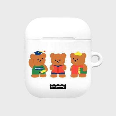 Smart bear friends-white(Hard air pods)_(1369712)