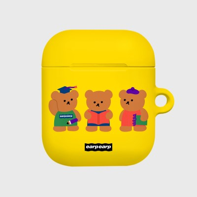 Smart bear friends-yellow(Hard air pods)_(1369710)