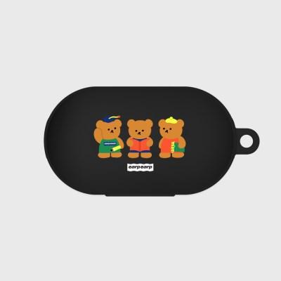 Smart bear friends-black(Buds jelly case)_(1369904)