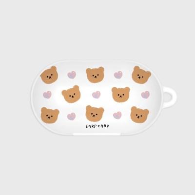 Dot love and bear-white(Buds hard case)_(1369877)