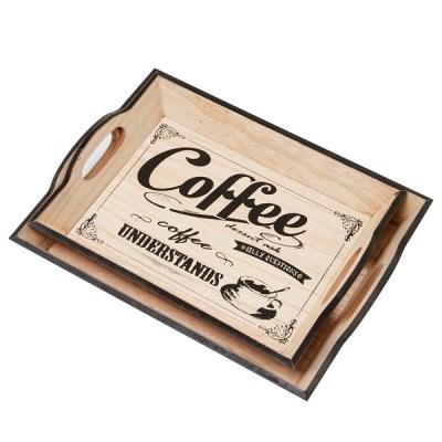 [3080070] 커피  이니셜 쟁반세트(소,대)