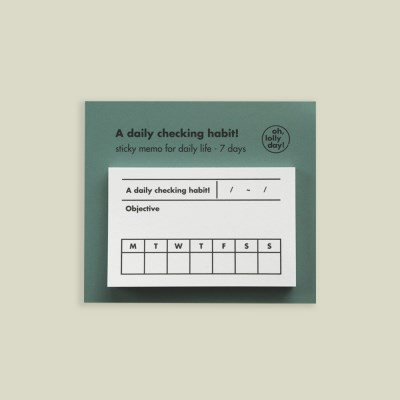 A daily checking habit! sticky memo pad