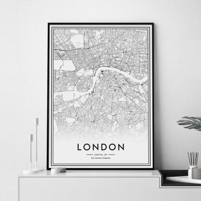 런던 지도 인테리어 그림 포스터