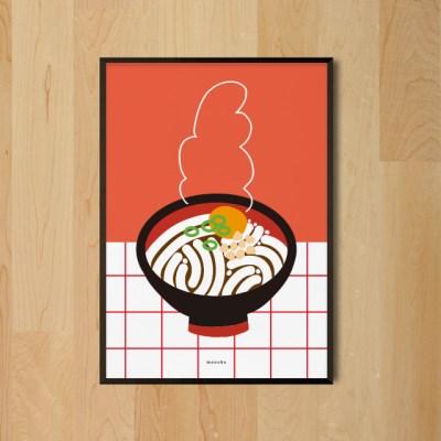 우동 한그릇 M 유니크 인테리어 디자인 포스터 식당