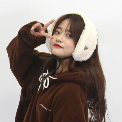 [체리콘] 보드라운 귀도리&목도리 - 아이보리