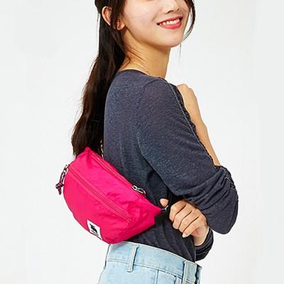 폴딩 힙색 핑크