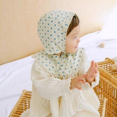 플라워땡땡 신생아 헤어밴드 아기턱받이 스카프빕 보넷