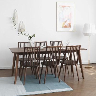 [헤리티지월넛] P형 식탁/테이블 세트_(1414562)