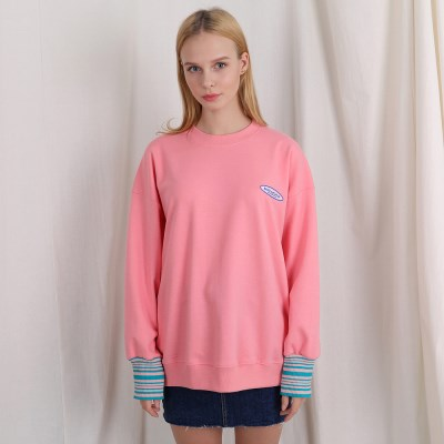[TOi] TSW 스몰 로고 스웨트셔츠 핑크