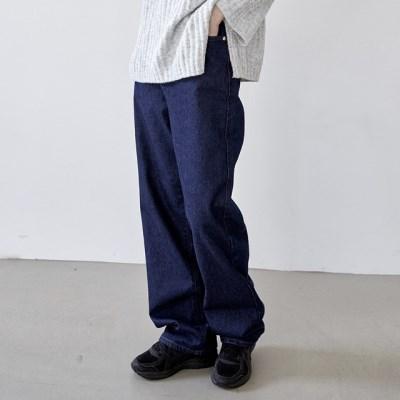 [outer] 와이드 딥 데님 팬츠_(1380133)