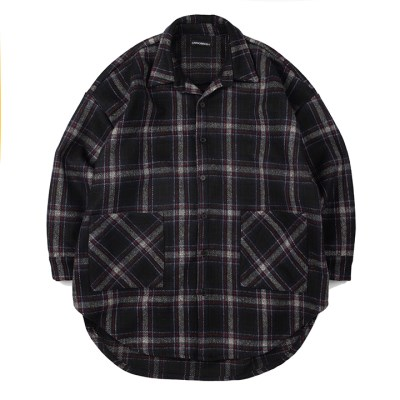 CB 체크 셔츠 자켓 (네이비)_(1187175)