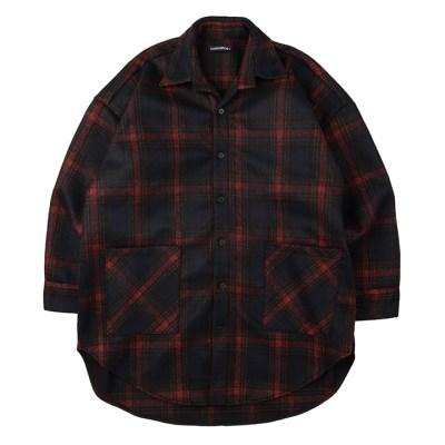 CB 체크 셔츠 자켓 (블랙)_(1187174)