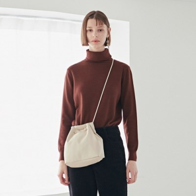 FRENCH TURTLE KNIT_RED BROWN