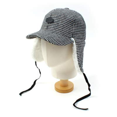 BKMT Houndtooth Check Earflap Cap 귀달이모자