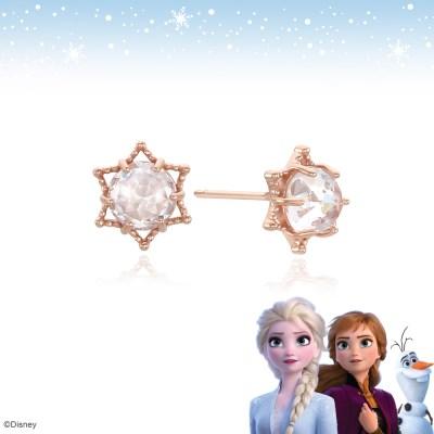 [클루X디즈니] 겨울왕국2쁘띠스노우플라워 실버 귀걸이 CLER19B0DPPW