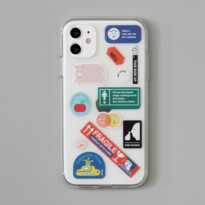 [ 아이폰 11 / 11 Pro ] CBB SC sticker boy_jelly case
