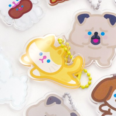 HAPPY PET keyring 10type
