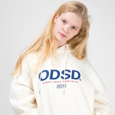 오드스튜디오 ODSD 로고 후드 - CREAM