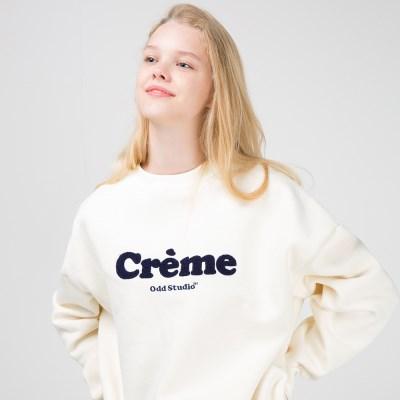 오드스튜디오 크림 맨투맨 티셔츠 -CREAM