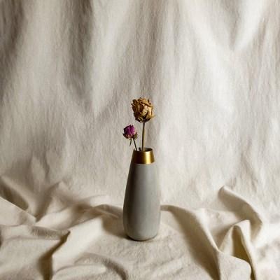 Concrete Flower Vase (Gold)