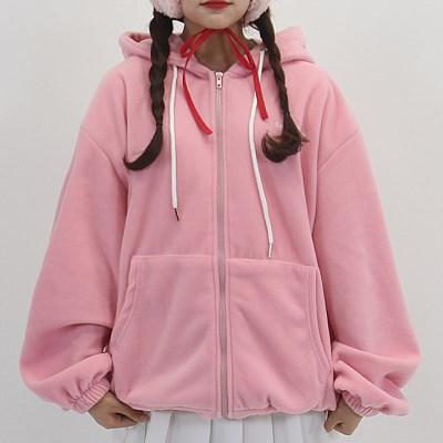 [체리콘] 리얼베어핏 후리스집업 - 핑크