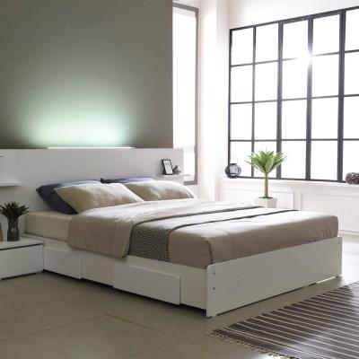 베이직 LED 일반서랍형 슈퍼싱글 침대프레임 SS (매트제외)