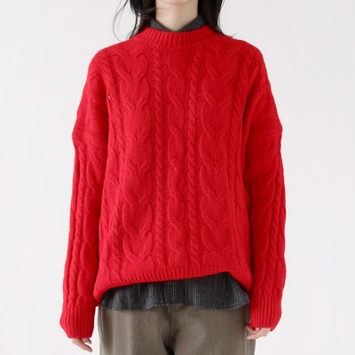 smooth bulky sweater (4colors)_(1382645)