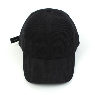 Black Logo Corduroy Ballcap 코듀로이볼캡