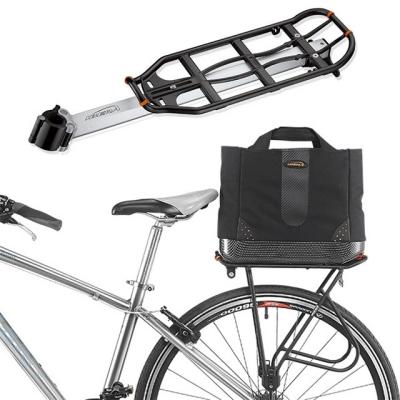 보온 보냉 자전거 여행가방과 자전거 짐받이 일자형 세트