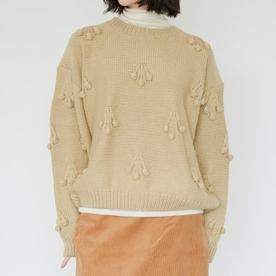 cherry round sweater (2colors)_(1384099)