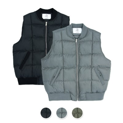 [패키지] (UNISEX)Round Quilting Padded Vest 2pack Package