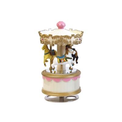 엔틱 회전목마 mini (핑크)