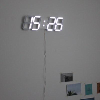 무소음 벽걸이 LED 시계 대형 벽시계