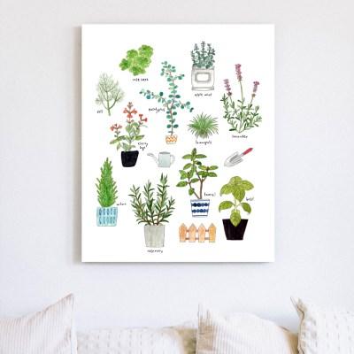 허브식물그림 캔버스액자