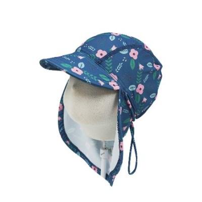 앨리빌리 네이비플로럴 플랩캡(수영모자 UV차단)