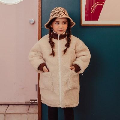 핑)양털시보리 아동 롱자켓