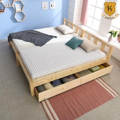 세이퍼 원목 서랍형 패밀리 침대 프레임  SS+SS (견양면매트)