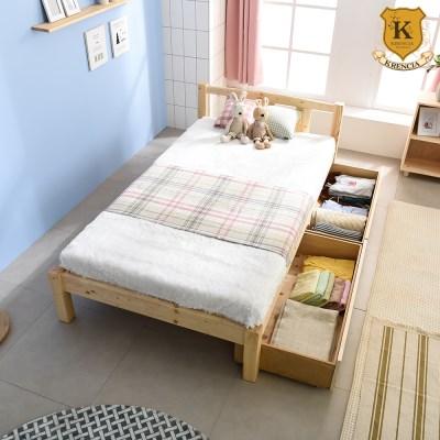 세이퍼 원목 서랍형 침대 프레임  SS+견양면매트