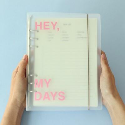 [Hey my days] 6공 바인더 A5 (2종)