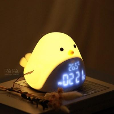 침대간접조명 LED 버드클락 시계겸용 무드등 특이한무드등