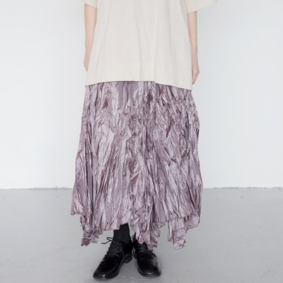 funky wrinkle skirts (pink)_(1385552)