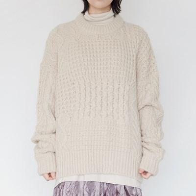 bulky round knit (cream)_(1385547)