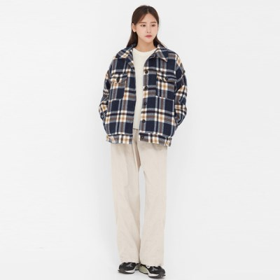 vintage check napping jumper_(1387111)