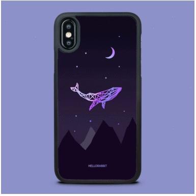 [헬로래빗]하늘고래 네이비 TPU범퍼 핸드폰케이스