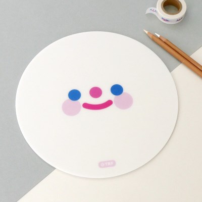 WHITE RiCO SMILE mouse pad