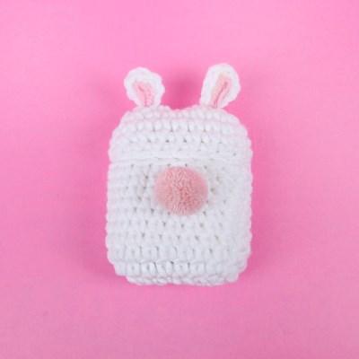 토끼 궁뎅이 뜨개 에어팟 케이스