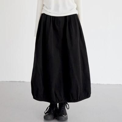 pumpkin cotton skirts (2colors)_(1388246)