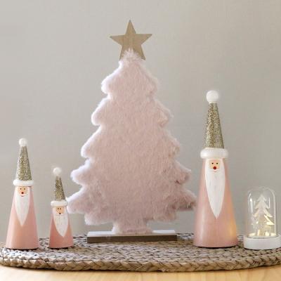 골드 모자 우든 핑크 산타