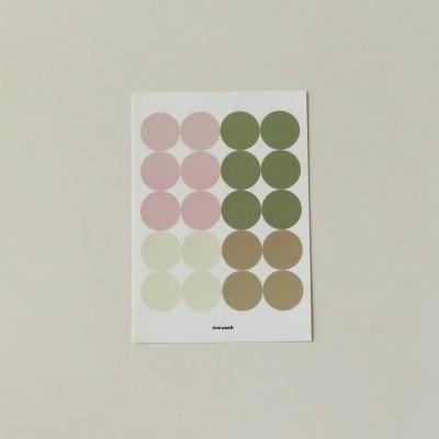 Dot sticker - pink brown + malcha