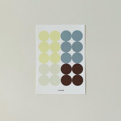 Dot sticker - lemon + blue gray